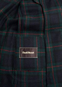 Plaid Double Breasted Wool Jacket, thumbnail 4
