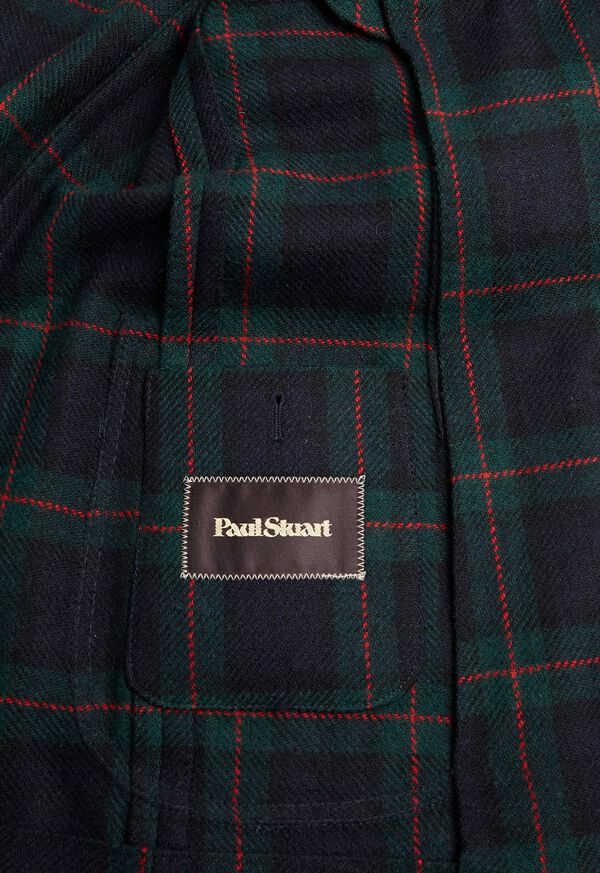 Plaid Double Breasted Wool Jacket, image 4