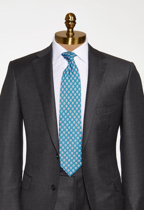Mini Paisley Silk Tie, image 2