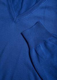 Cotton V-Neck Sweater, thumbnail 2