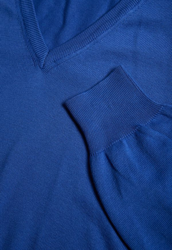 Cotton V-Neck Sweater, image 2