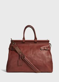Bridle Leather Carpet Bag, thumbnail 3