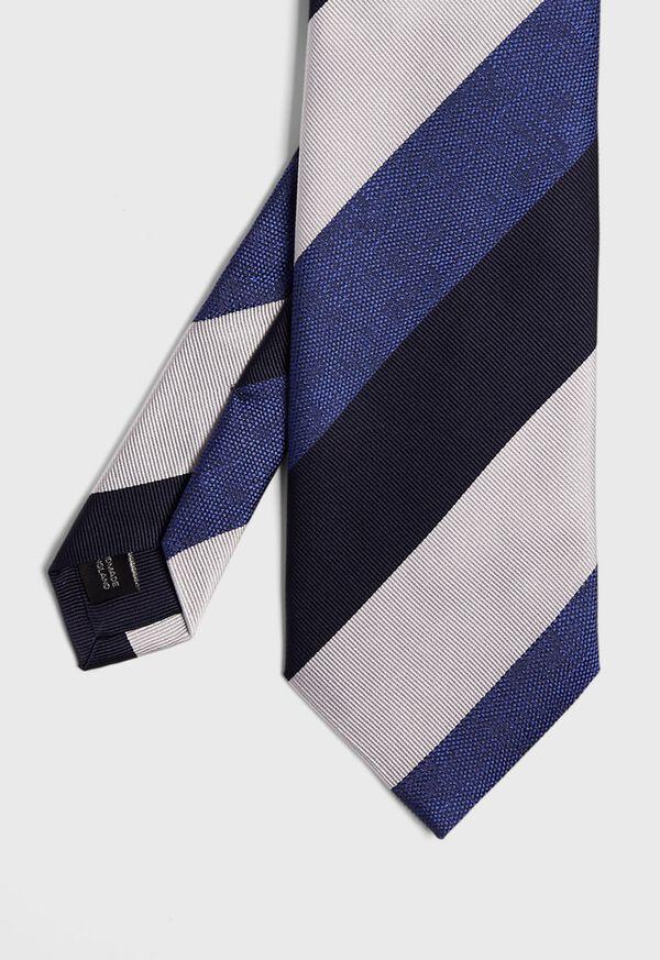 Wide Textured Stripe Tie