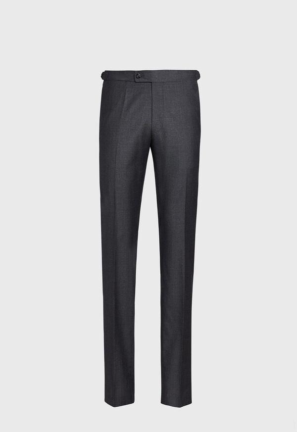Super 110s Wool Plain Front Trouser, image 1