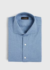 Oxford Brushed Flannel Sport Shirt, thumbnail 1