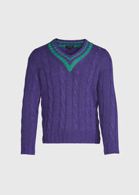 Cable Tennis Sweater, thumbnail 1