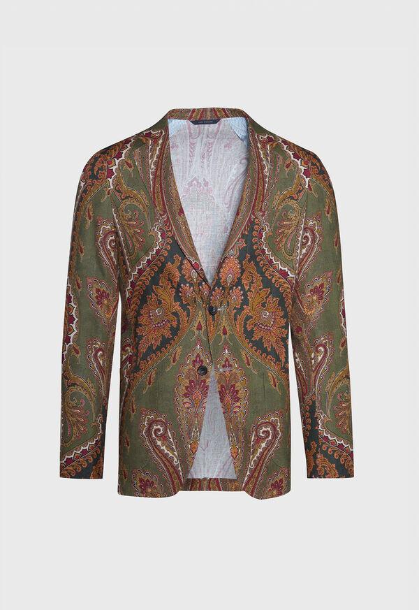 Paisley Print Soft Jacket, image 1