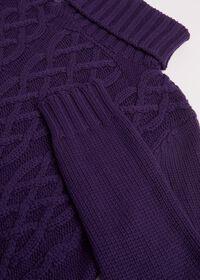 Cashmere Aran Cable Knit Turtleneck, thumbnail 3