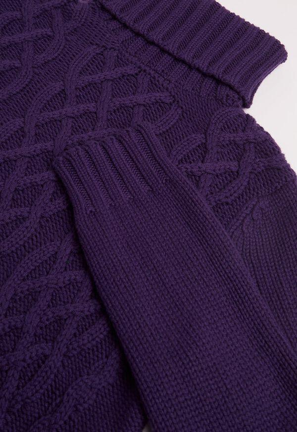 Cashmere Aran Cable Knit Turtleneck, image 3