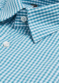 Gingham Cotton Sport Shirt, thumbnail 2