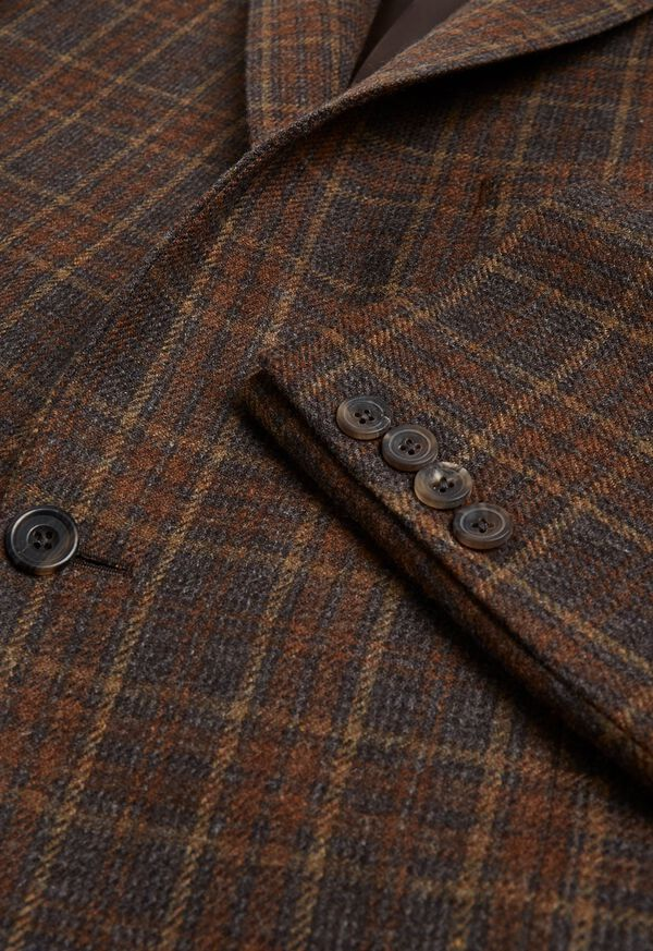Brown Plaid Sport Jacket, image 2