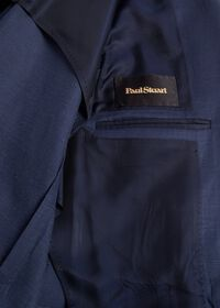 Navy solid Silk Blend Suit, thumbnail 4