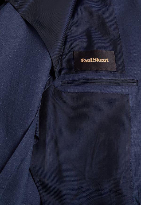 Navy solid Silk Blend Suit, image 4