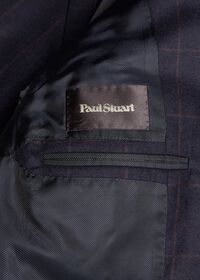 Soft Shoulder Wool Windowpane Suit, thumbnail 5