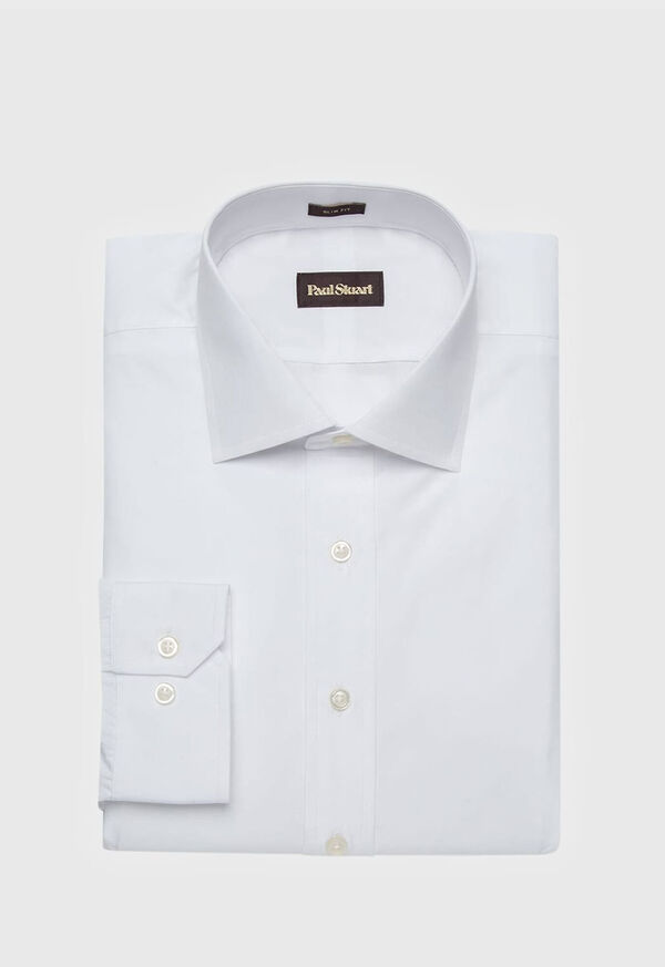 Slim Fit Broadcloth Cotton Dress Shirt, image 1
