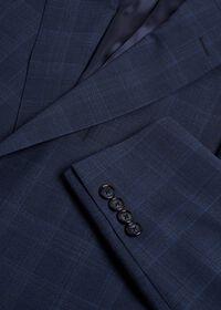 Fainted Deco Pane Super 150s Wool Suit, thumbnail 2