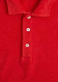 Terry Cloth Polo Shirt, thumbnail 2