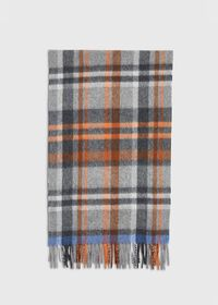 Green and Rust Plaid Scarf, thumbnail 3