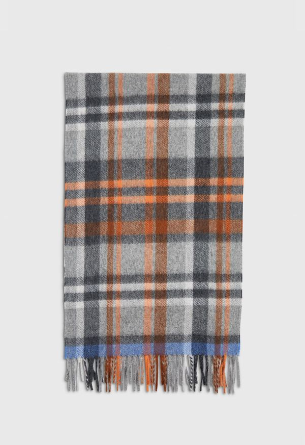 Green and Rust Plaid Scarf, image 3