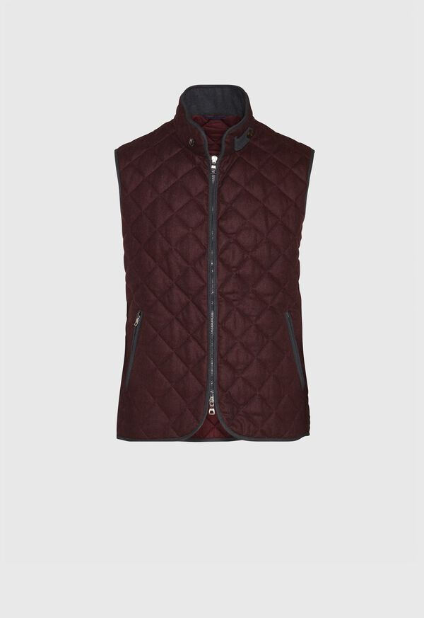 Merino Wool Flannel Quilted Vest, image 1