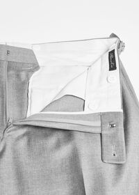 Silver Grey Plain Front Super 110s Trouser, thumbnail 2