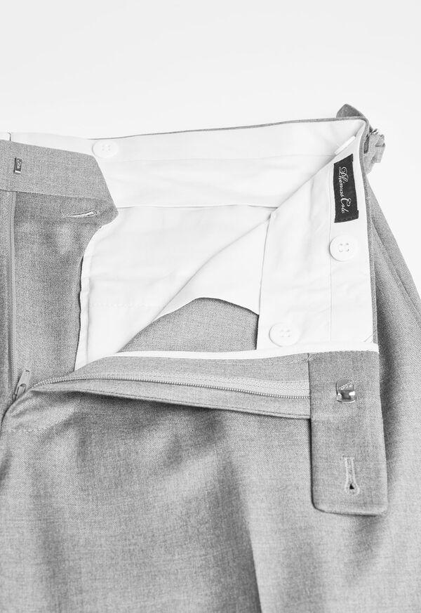Silver Grey Plain Front Super 110s Trouser, image 2