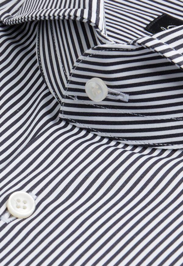 Black and White Stripe Dress Shirt, image 2