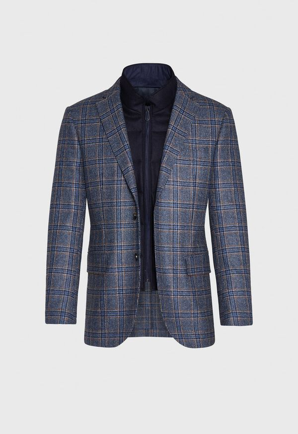 Plaid Travel Jacket and Built-in Vest, image 5