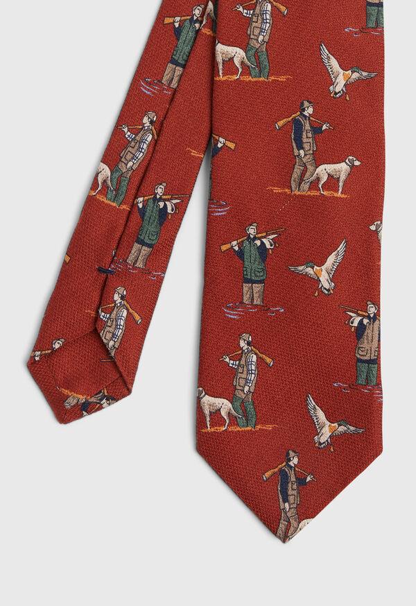 Hunting Scene Silk Tie
