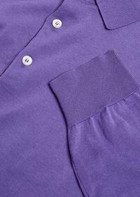 Long Sleeve Cotton Polo, thumbnail 2