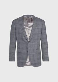Tonal Plaid Wool Jacket, thumbnail 1