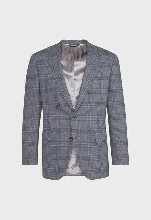 Tonal Plaid Wool Jacket, image 1