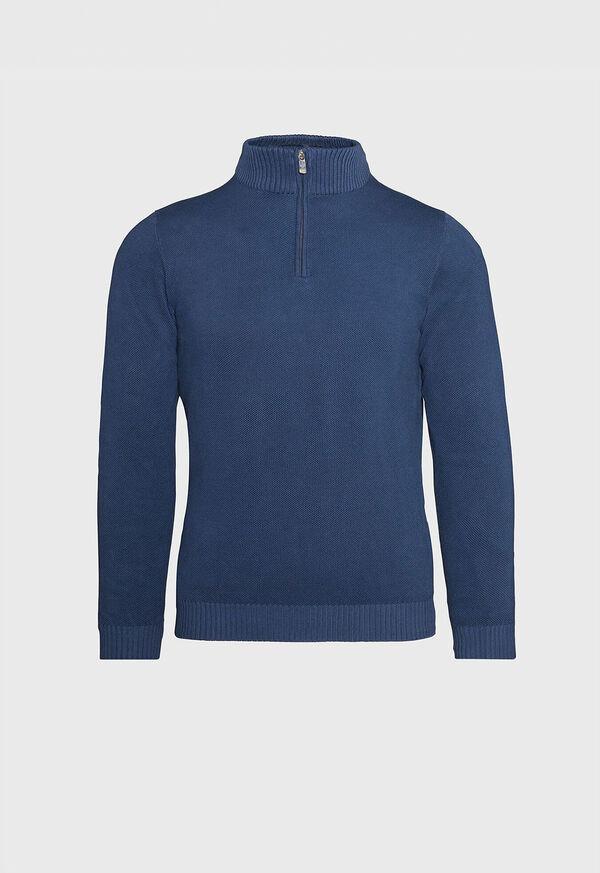 Pique Stitch 1/4 Zip Sweater, image 1