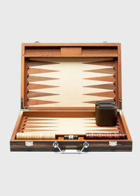 Matte Ebony Backgammon Set, thumbnail 1