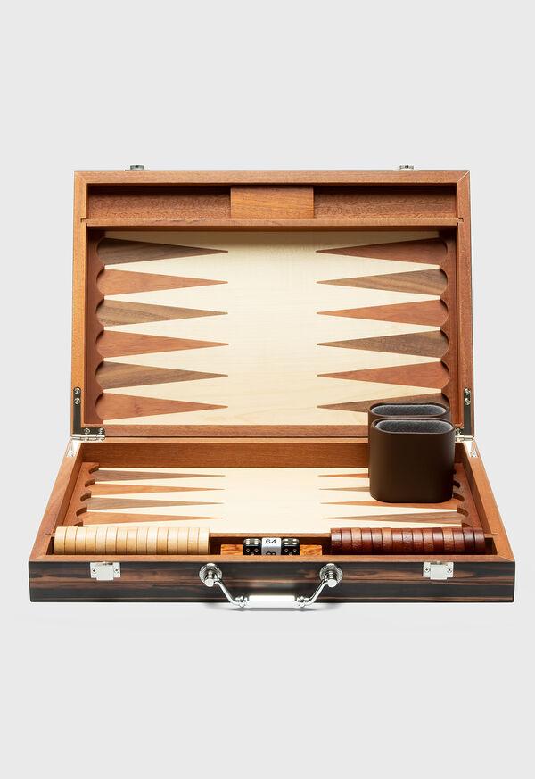 Matte Ebony Backgammon Set, image 1