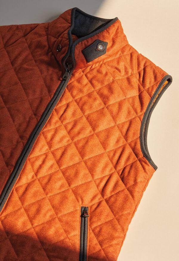 FW21 Paul Stuart Catalog Orange Quilted Wool Vest , image 1