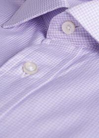 Slim Fit Micro Check Dress Shirt, thumbnail 2
