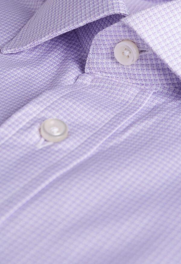 Slim Fit Micro Check Dress Shirt, image 2