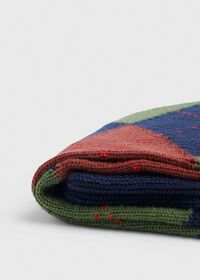 Wool Blend Argyle Sock, thumbnail 2