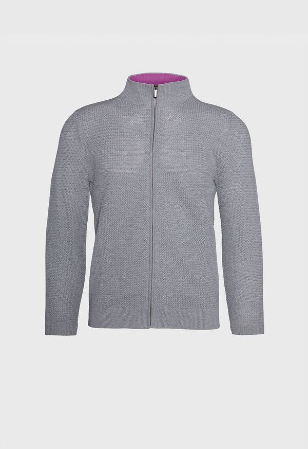 Pique Full Zip Sweater, image 1