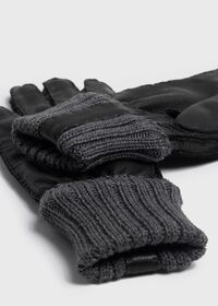 Deerskin Glove with Cashmere Ribbed Cuff, thumbnail 2
