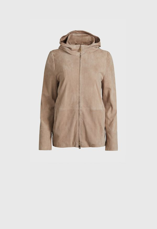 Suede Full Zip Jacket, image 1