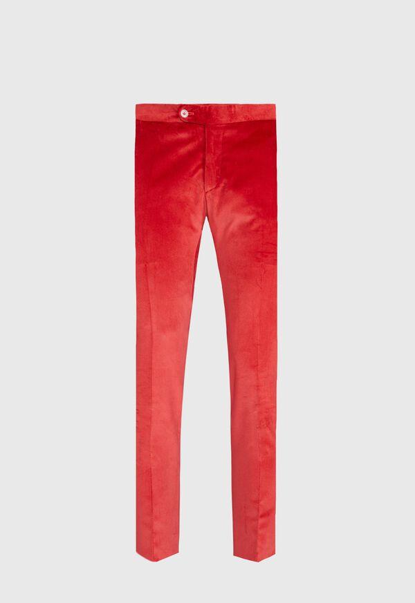 Slim Fit Cotton Velvet Pant, image 1