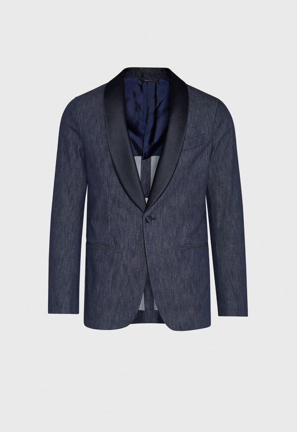Denim Single Breasted Formal Jacket, image 1