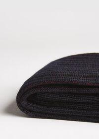 Wool and Cotton Blend Over the Calf Vanise Stripe Socks, thumbnail 2