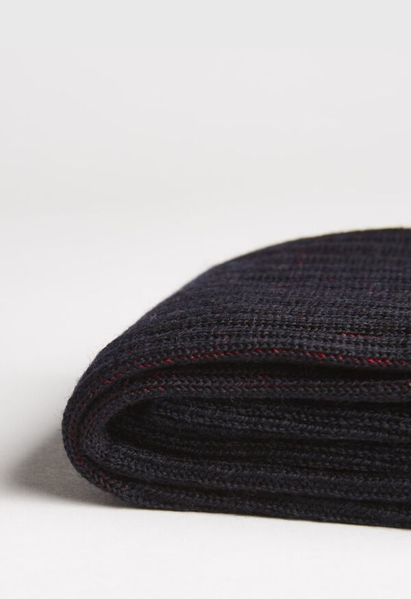 Wool and Cotton Blend Over the Calf Vanise Stripe Socks, image 2