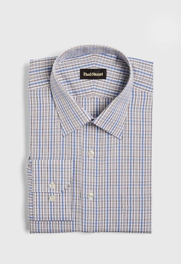 Cotton Check Dress Shirt, image 1