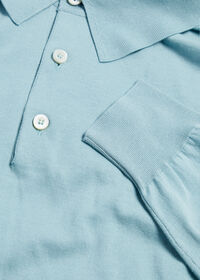 Long Sleeve Cotton Polo, thumbnail 5