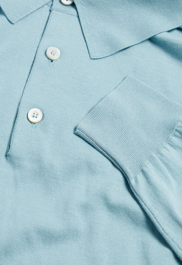 Long Sleeve Cotton Polo, image 5