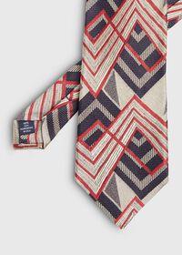 Abstract Print Deco Silk Tie, thumbnail 1